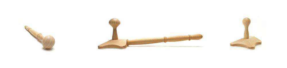 Massaggerät Holz multifunktional